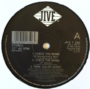 "A Tribe Called Quest - Check The Rhime (12"") (VG-/M)"